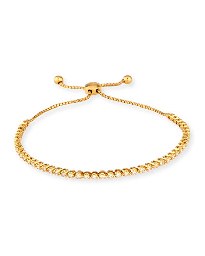 18K Yellow Gold Illusion-Set Diamond Bracelet