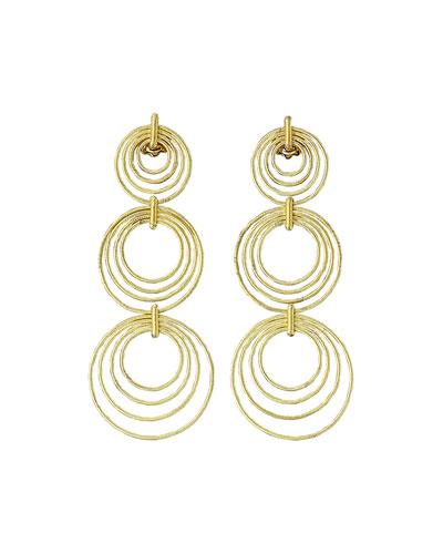 18k Gold Hawaii Triple-Drop Earrings