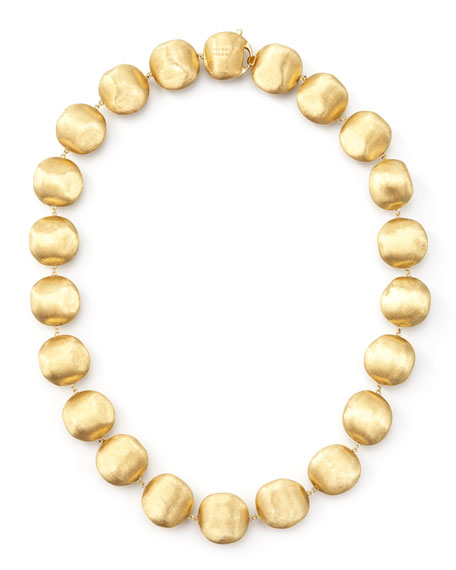 """Marco Bicego Africa Gold Medium Bead Necklace, 17""""L"""