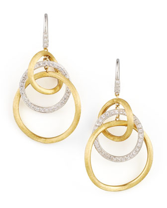 Jaipur Diamond Link Drop Earrings