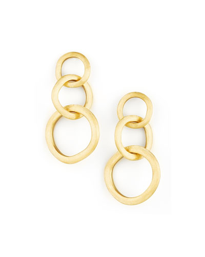 Jaipur Link Gold Large Drop Earrings