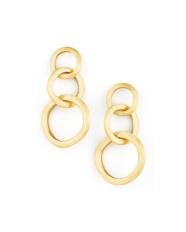 Jaipur Link Gold Large Drop Earrings