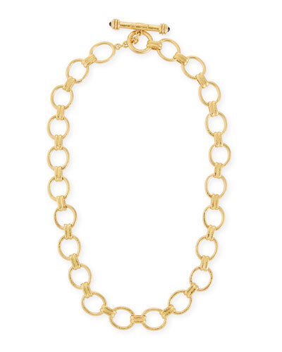 Rimini Gold 19k Link Necklace, 17