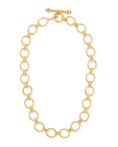 "Elizabeth Locke Rimini Gold 19k Link Necklace, 17""L"