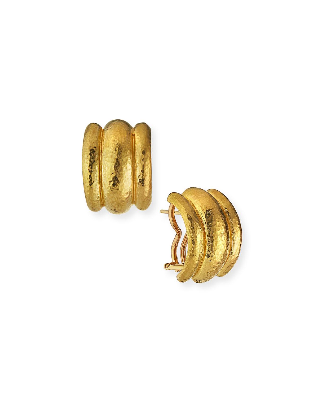 Amalfi 19k Gold Huggie Earrings