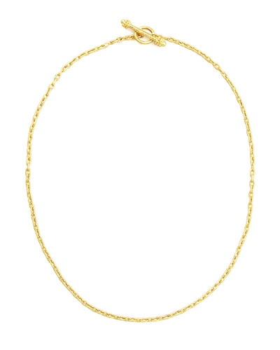19k Fine Gold Link Necklace, 17