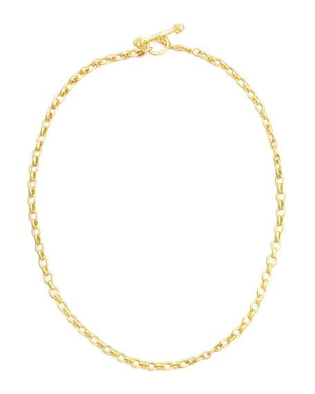 "Elizabeth Locke Cortina 19k Gold Link Necklace, 17""L"
