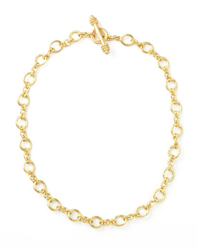 Riviera Gold 19k Link Necklace, 17