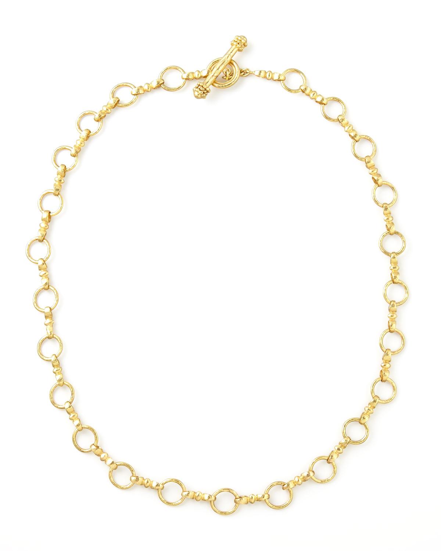 Celtic Gold 19k Link Necklace