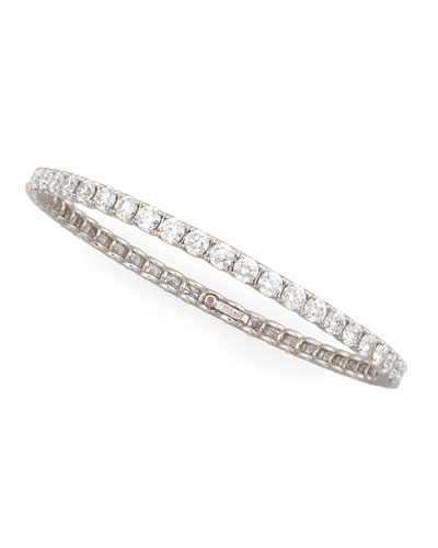 64mm White Gold Diamond Eternity Bangle, 11.5ct