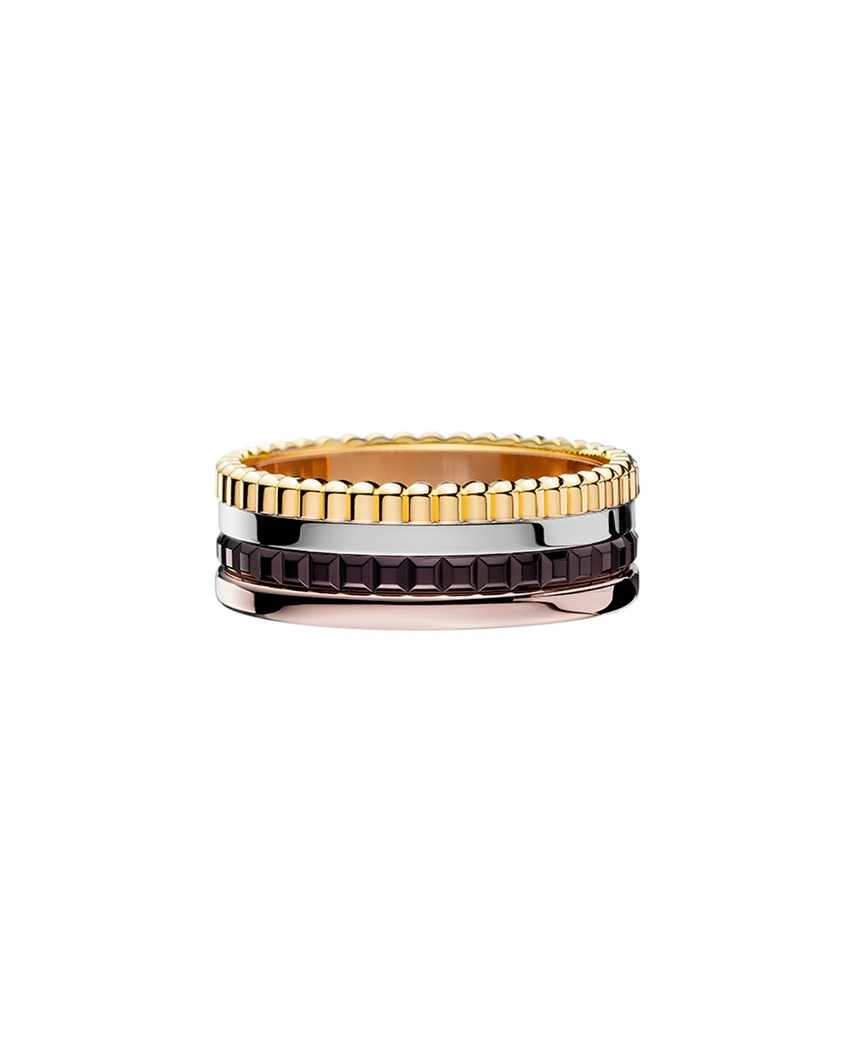 Classic Quatre 18k Four-Color Gold Small Band Ring