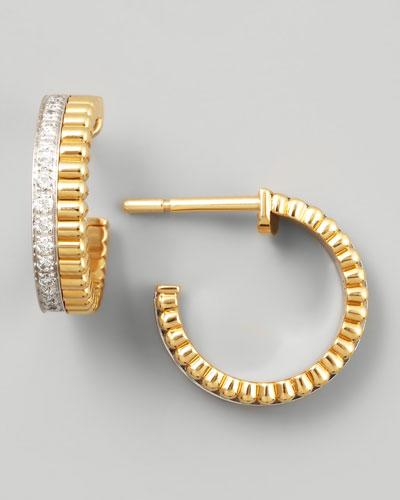 Quatre Follies 18k Yellow/White Gold Diamond Earrings