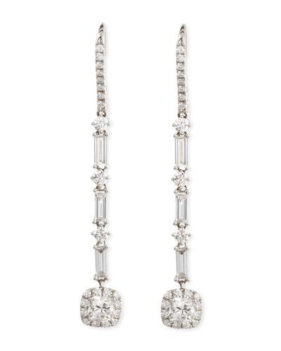 Deco Collection Diamond Drop Earrings