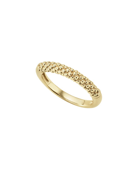 Lagos 18k Caviar Beaded Ring, Size 7