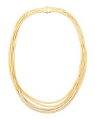 Diamond Cairo 18k Five-Strand Necklace