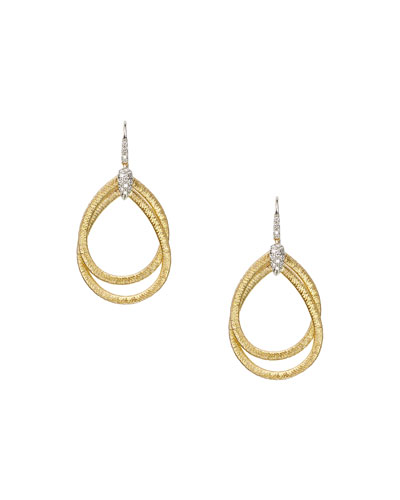 Diamond Cairo 18k Serpentine-Drop Earrings