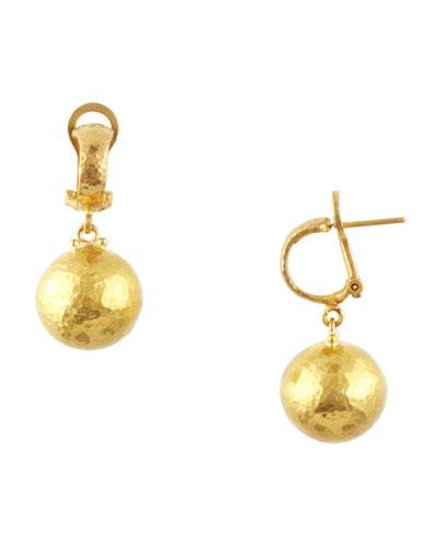 Dome 24k Gold Ball Drop Earrings