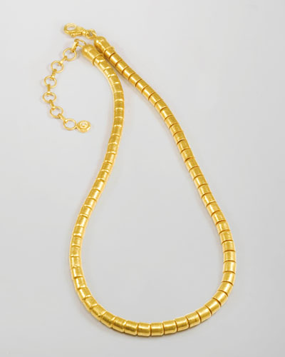 Vertigo 24k Gold Single-Strand Necklace