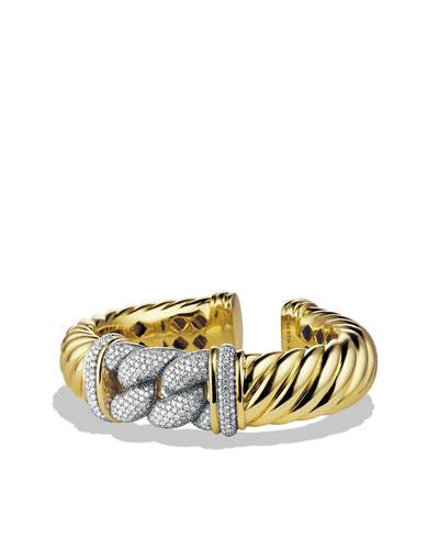 Metro Bracelet with Diamonds in Gold