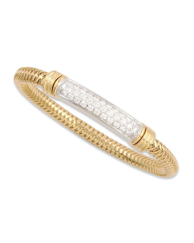Primavera 18k Yellow Diamond-Bar Bracelet