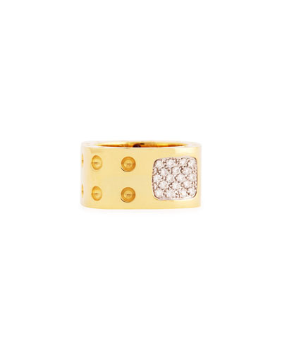 Pois Moi Two-Row Diamond Ring, Yellow Gold