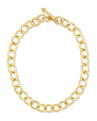 "Hammered 19k Volterra Link Necklace, 17""L"