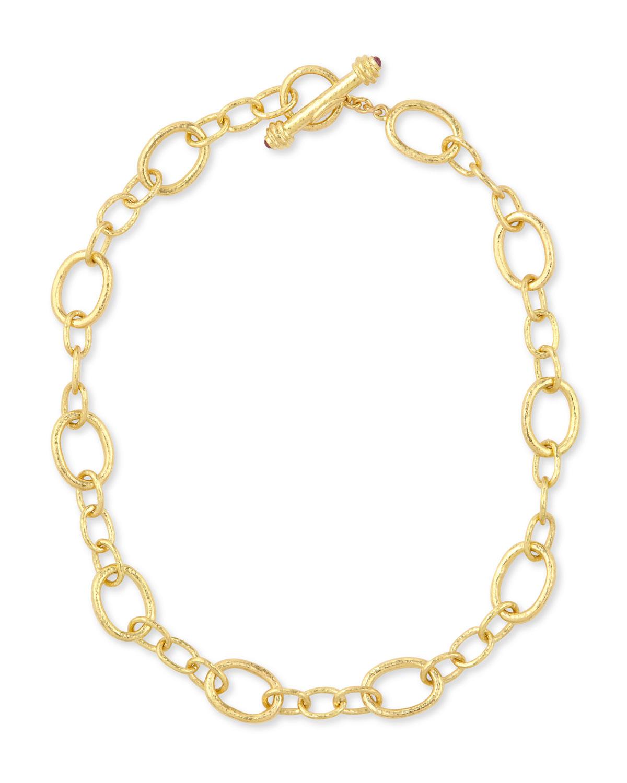Hammered 19k Garda Link Necklace