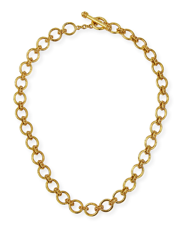 19k Small Elba Flat Link Necklace