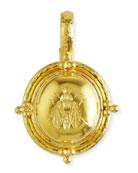 19k Gold Oval Honey Bee Pendant