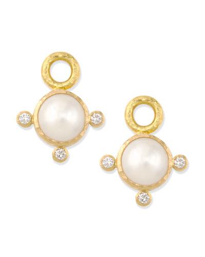 8mm White Akoya Pearl Earring Pendants