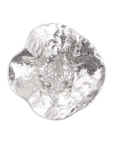 Serenity Sterling Flower Pendant with Diamond Center