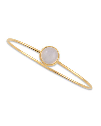 Baubles 18k Yellow Gold Big Stacking Bracelet, Moon Quartz