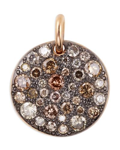 Sabbia 18k Rose Gold & Brown Diamond Pendant