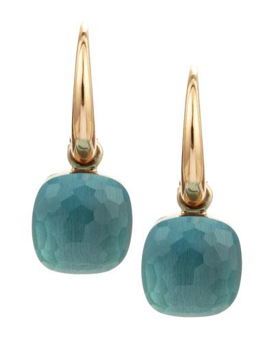 Nudo Small 18k Blue Topaz Earrings