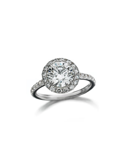 18k White Gold Center of My Universe Solitaire Diamond Ring, 1.63 TCW ...