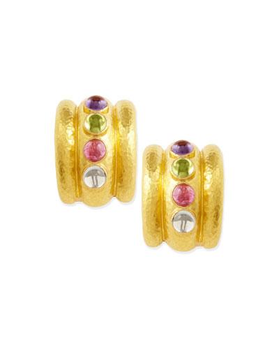 Pastel Tutti Frutti Amalfi 19k Gold Hoop Earrings