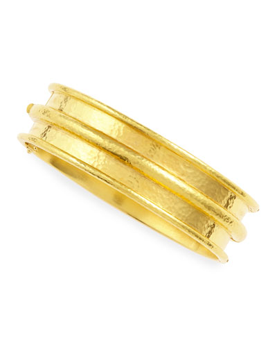 Medium 19k Gold Channeled Bangle