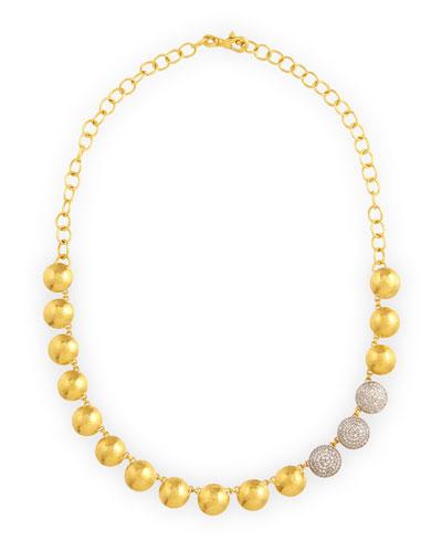 Lentil Ice 24k Gold & Diamond Necklace