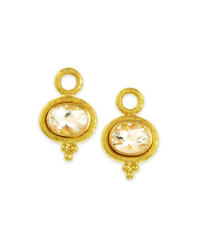 Faceted Moonstone Earring Pendants, 7mm