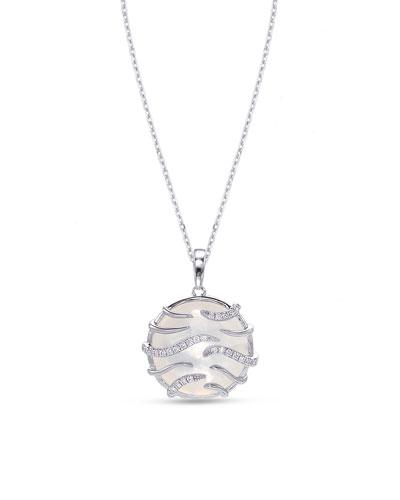 Luna Mini 18k White Gold Mother-of-Pearl Pendant Necklace