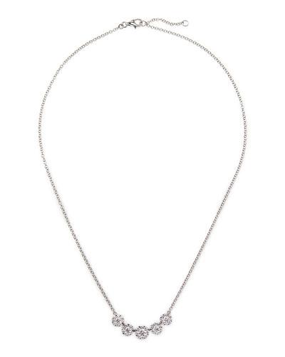 18k White Gold Floral Diamond Necklace