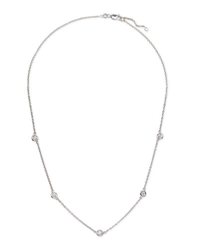 18k White Gold & Diamond Necklace