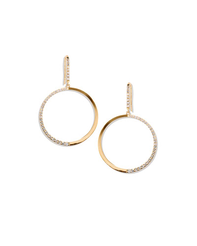 14k Fatale Hoop Earrings with Diamonds