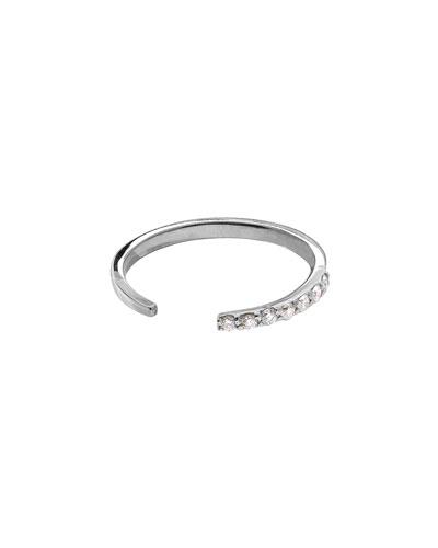 14k White Gold Diamond Femme Echo Ring