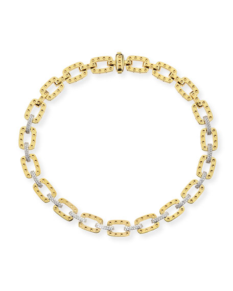 """Roberto Coin 18k Yellow Gold Pois Moi Necklace with Diamonds, 16""""L"""