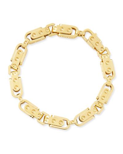 Pois Moi 18k Yellow Gold Round Link Bracelet