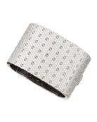 Pois Moi 18k White Gold & White Diamond 7-Row Bangle