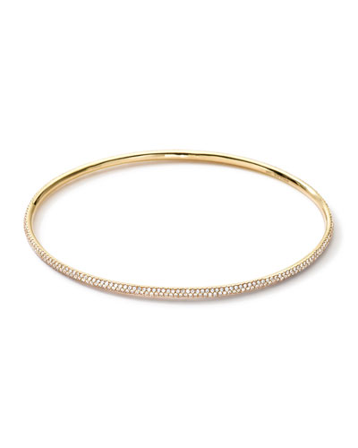 18k Gold Stardust Bangle with Diamonds