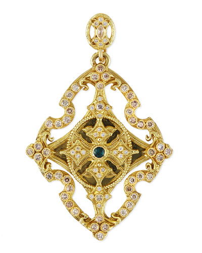 Sueno 18k Yellow Gold & Diamond Cross Enhancer