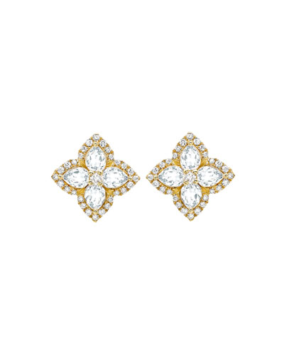 Aurora White Topaz and Diamond Earrings